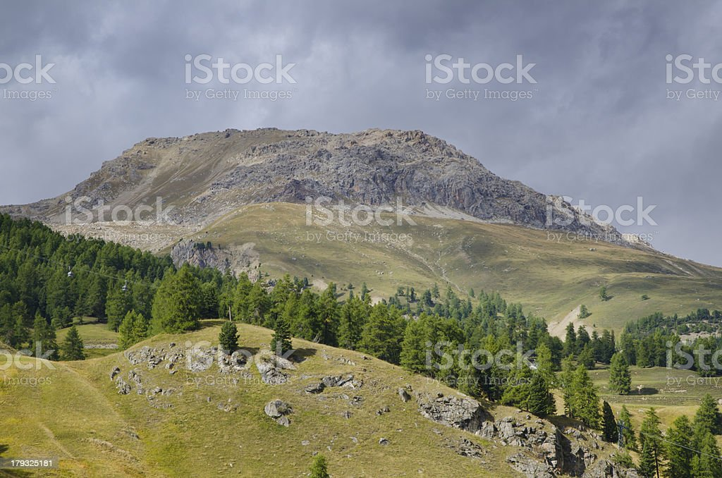 St Moritz with ski lift royalty-free stock photo