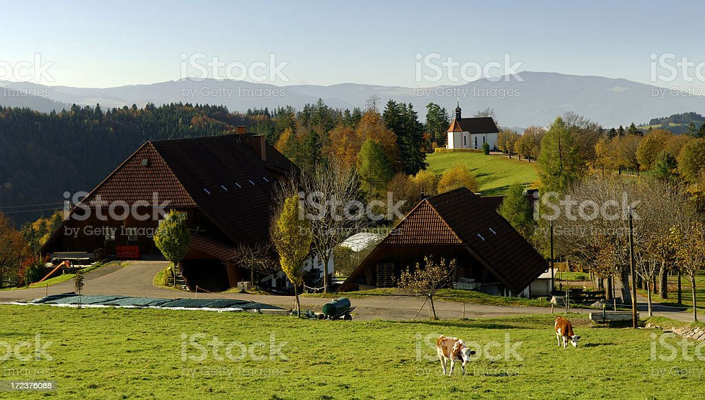 St. Märgen, Black Forest royalty-free stock photo