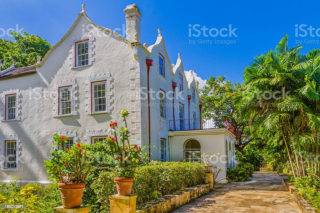 St Nicholas Abbey, Barbados stock photo