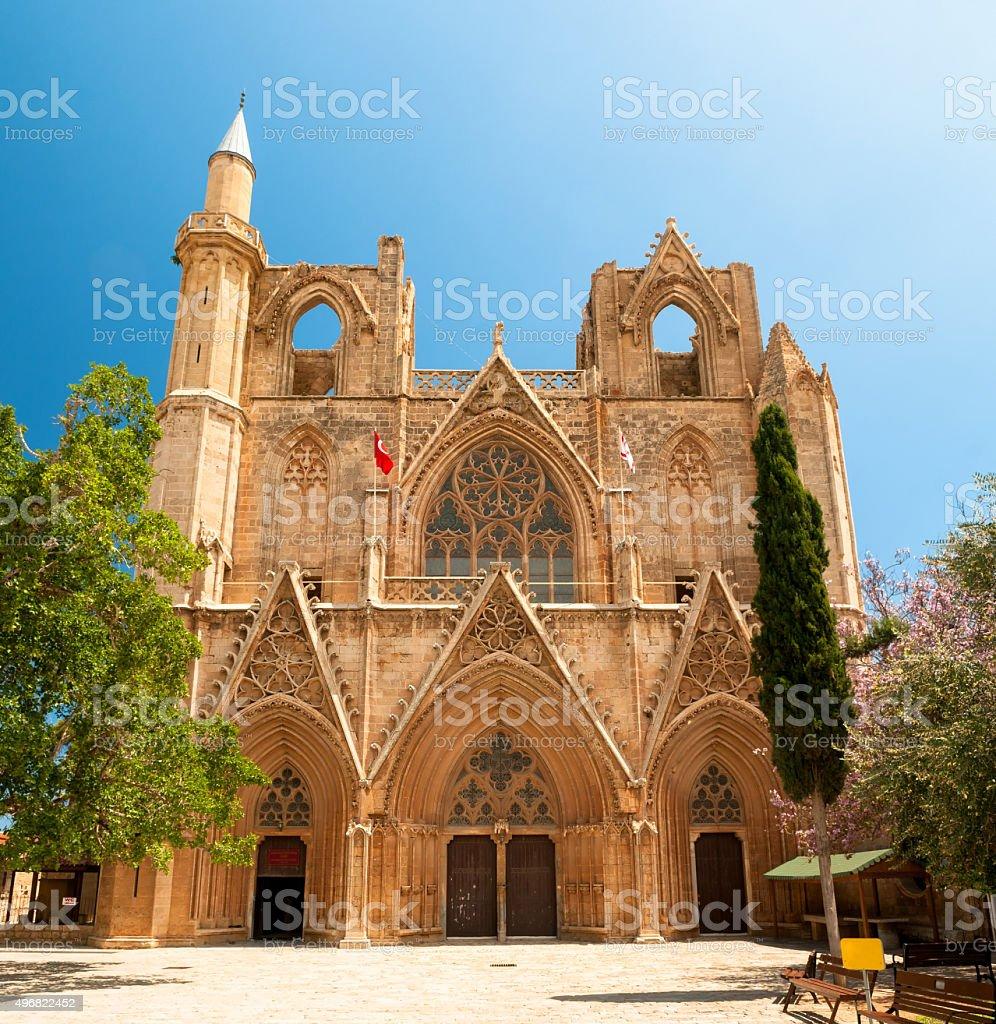 St. Nicholas Cathedral (Lala Mustafa Mosque), Famagusta, Cyprus. stock photo
