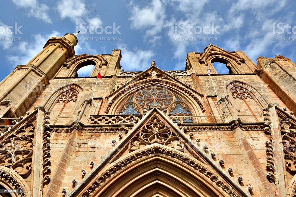 St. Nicholas Cathedral Famagusta stock photo