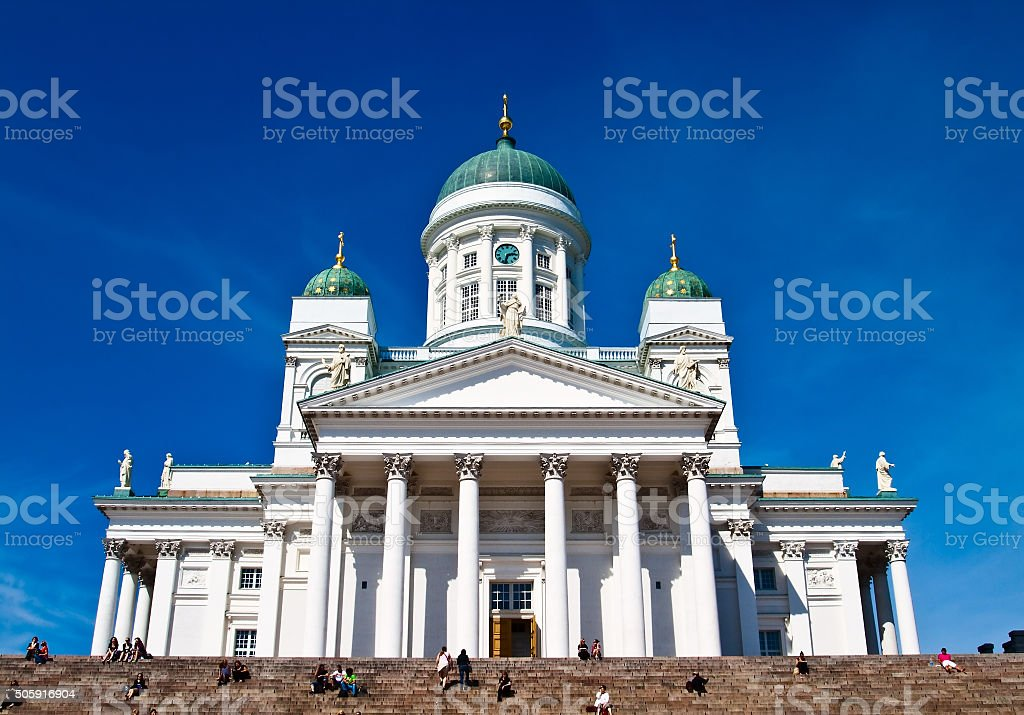 St. Nicholas Cathedral. Helsinki.Finlyandiya. stock photo