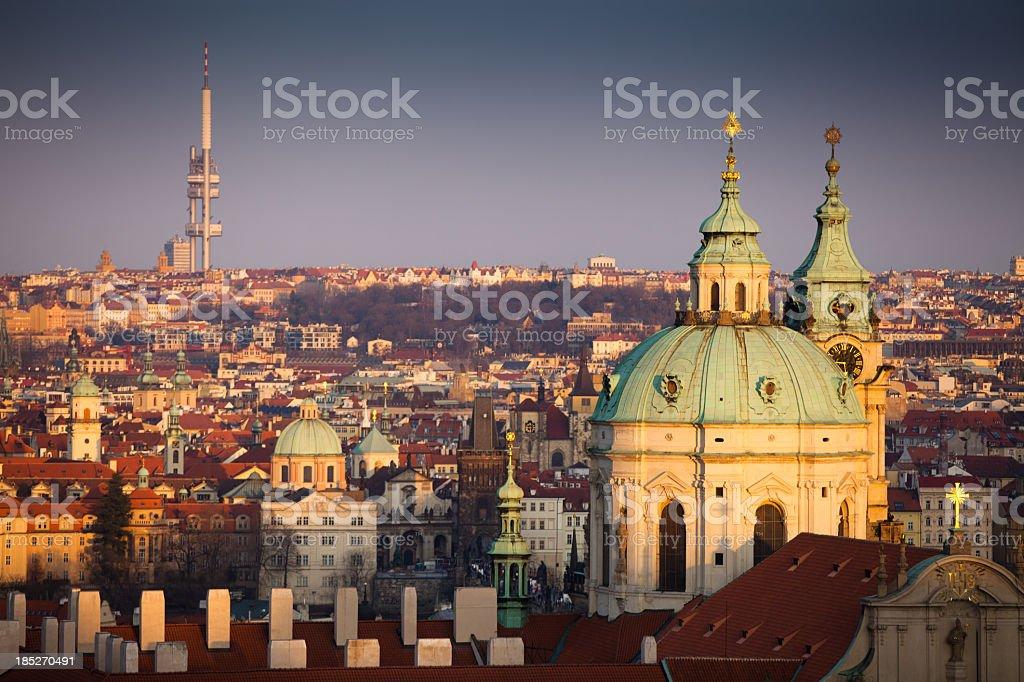 St. Nicholas Cathedral, Prague royalty-free stock photo