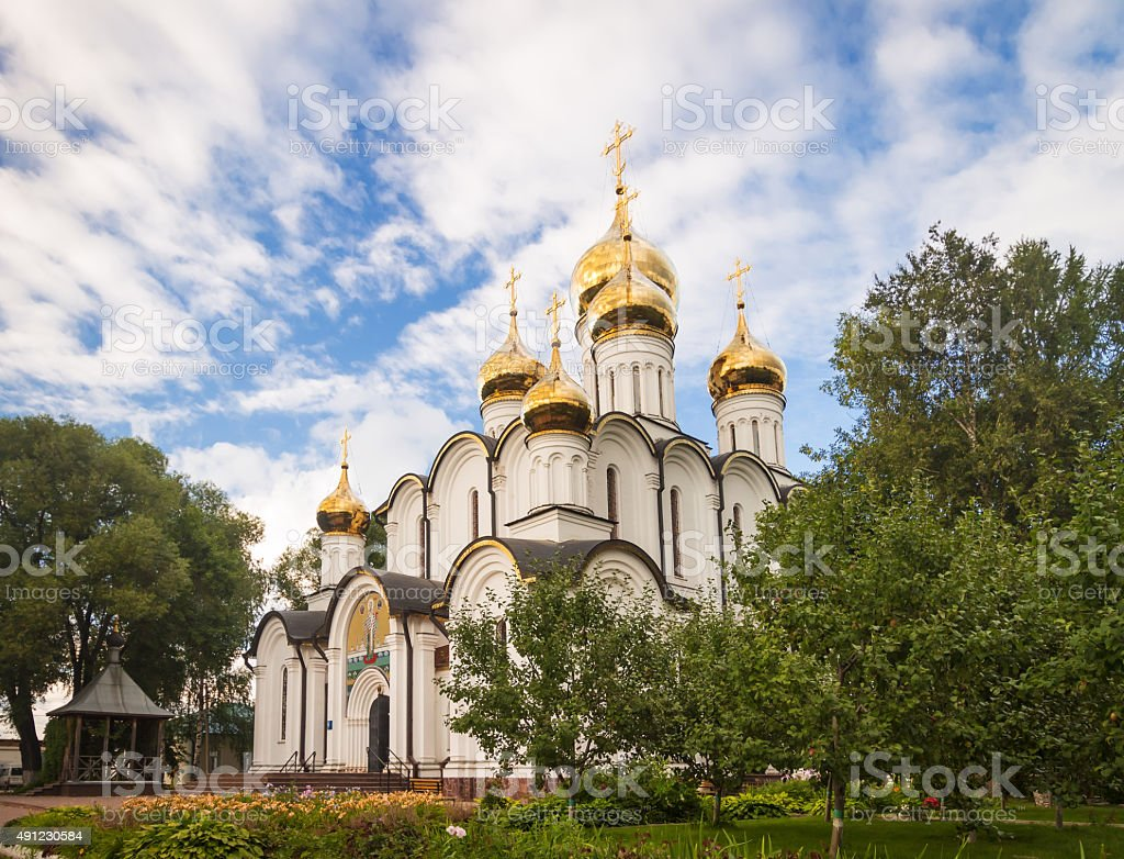 St. Nicholas Cathedralin in St. Nicholas Monastery. stock photo