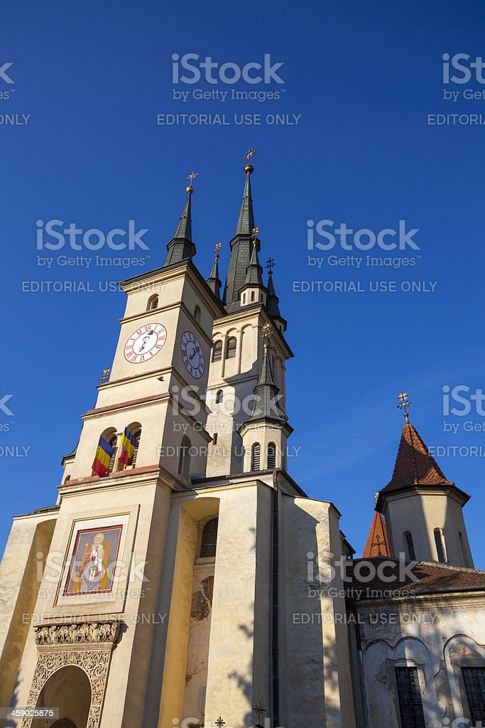 St Nicholas Church, Brasov, Romania stock photo