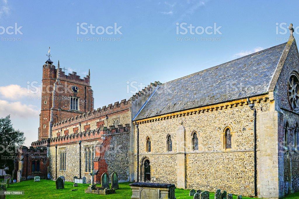 St Nicholas Church, Castle Hedingham. stock photo