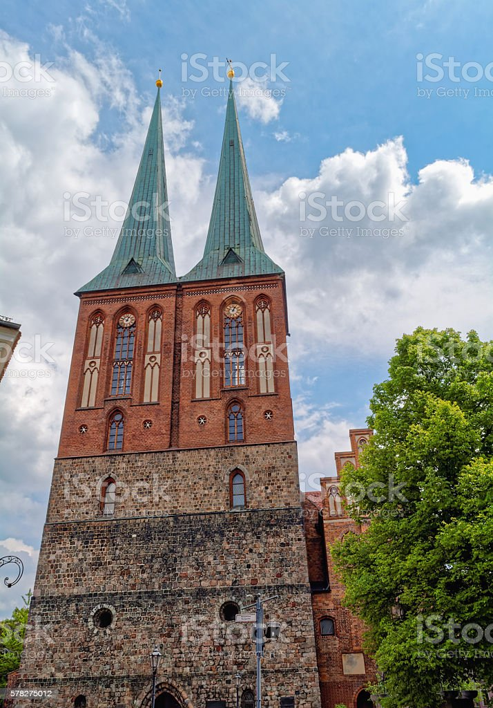 St. Nicholas Church (Nikolaikirche) in Berlin, Germany stock photo