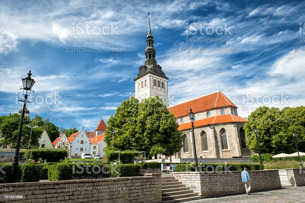 St. Nicholas Church in Estonia, Tallinn stock photo