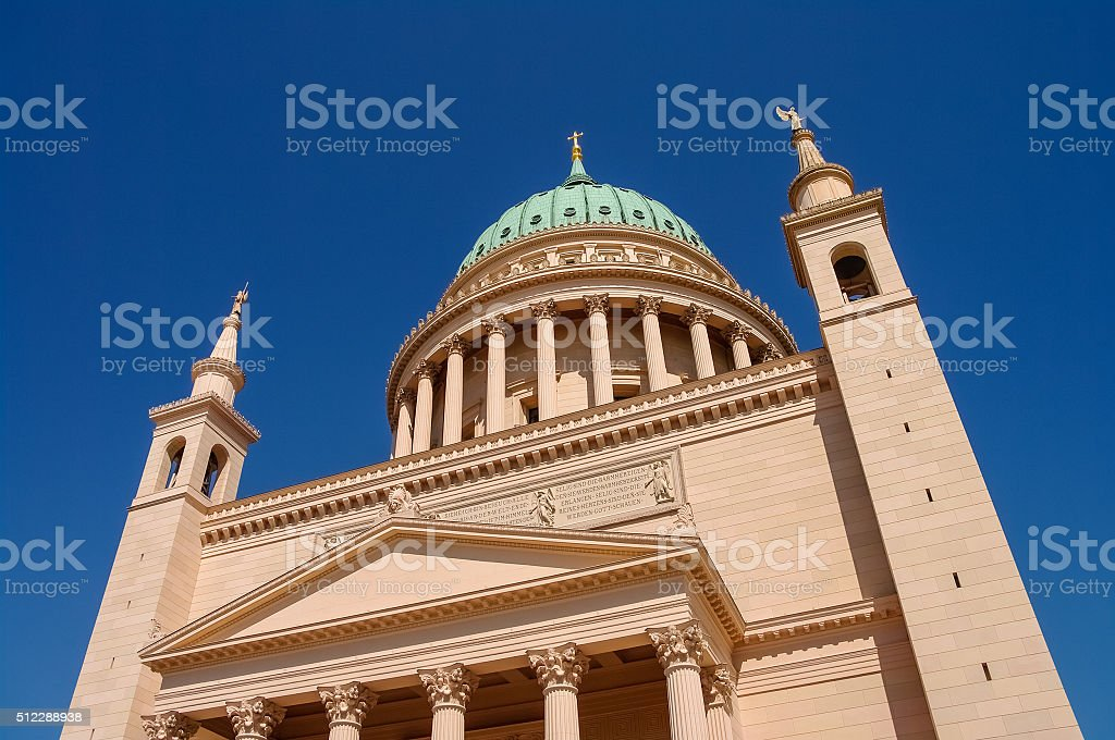 St. Nicholas Church in Potsdam, Germany stock photo