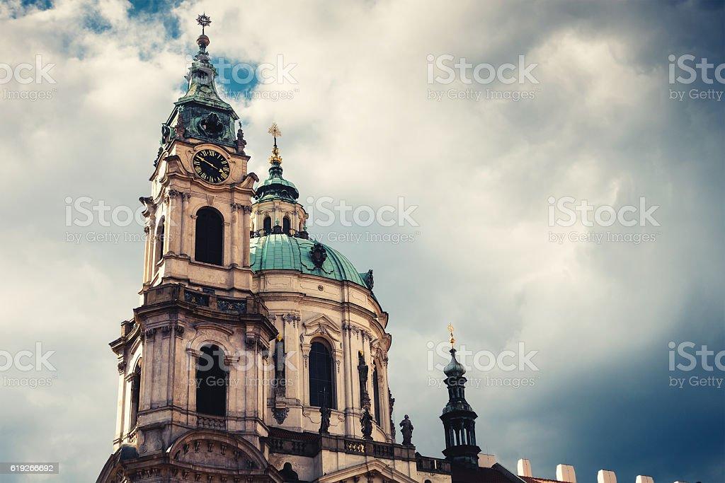 St Nicholas Church In Prague stock photo