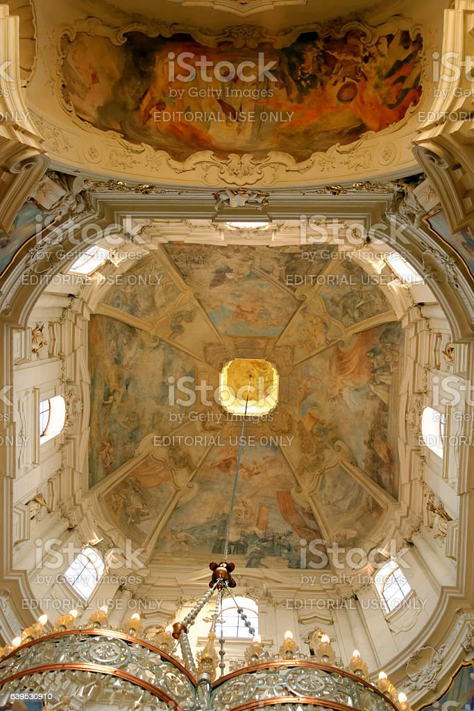 St. Nicholas Church, Prague, Czech Republic. stock photo