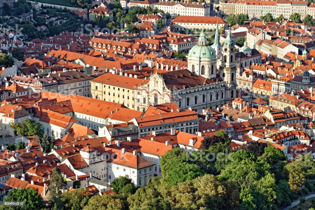 St. Nicholas Church, Prague, Czech Republic. stock photo