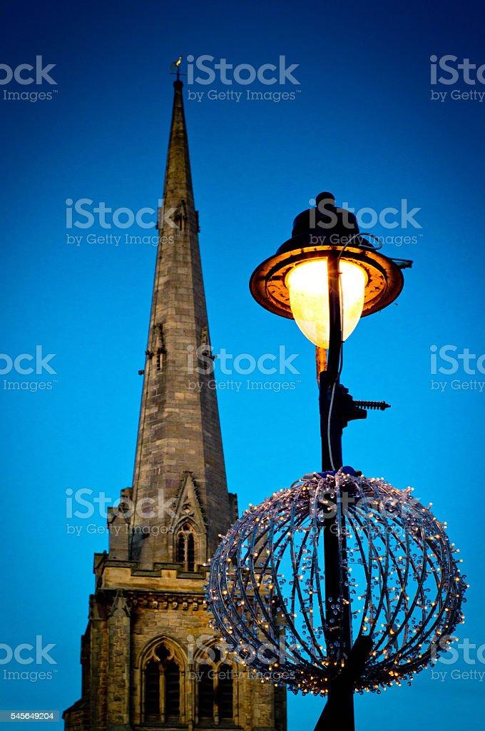 St Nicholas Church Steeple Durham stock photo