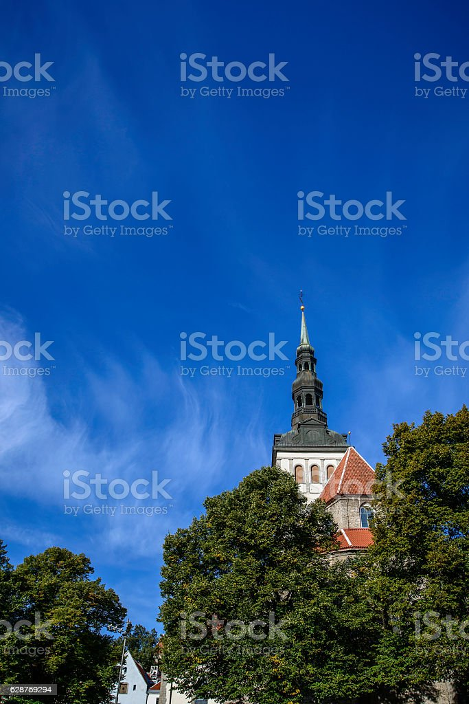 St. Nicholas' Church, Tallinn, Estonia stock photo