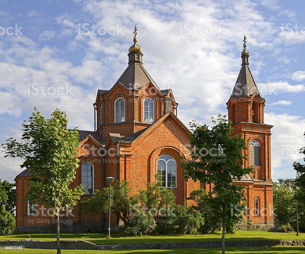 St. Nicholas Church, Vaasa, Finland stock photo