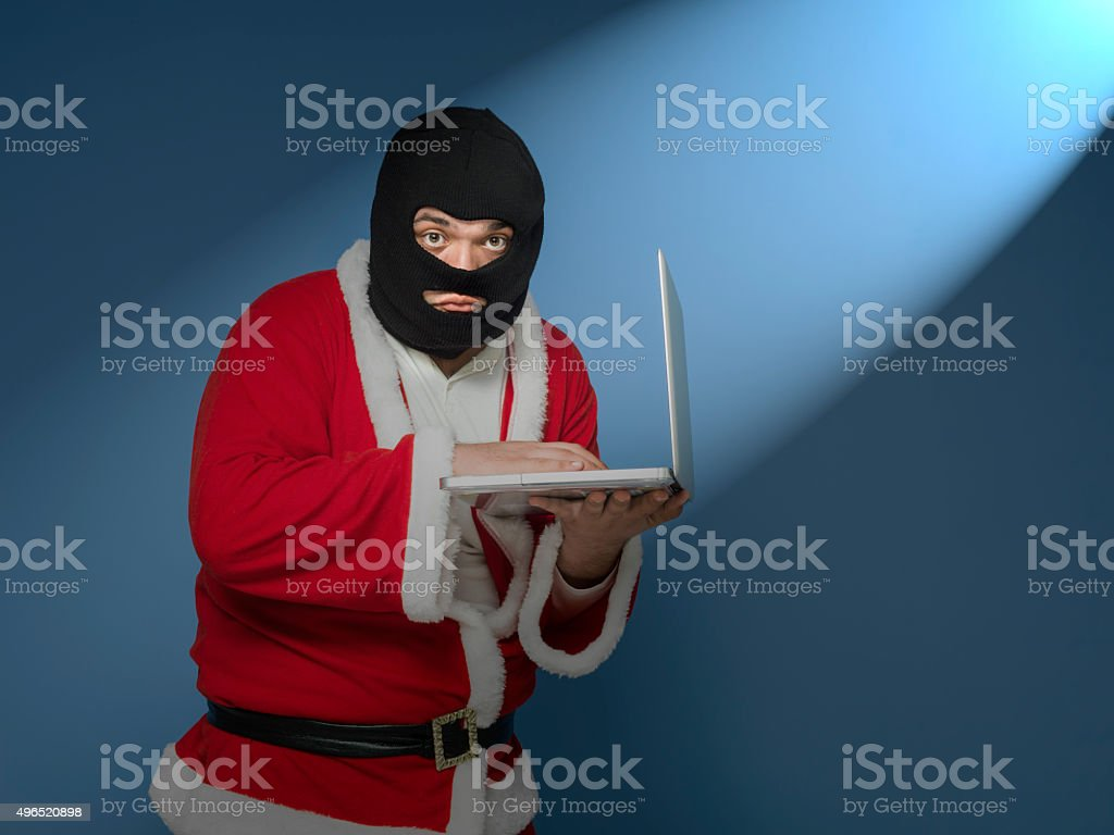 St Nicholas Commit Computer Crime stock photo