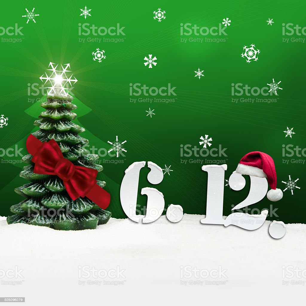 St. Nicholas Day December 06 - green stock photo