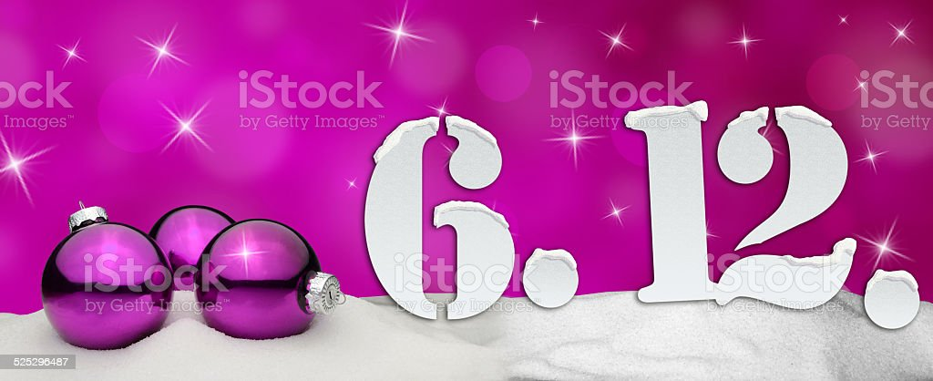 St. Nicholas Day December 06 - pink stock photo