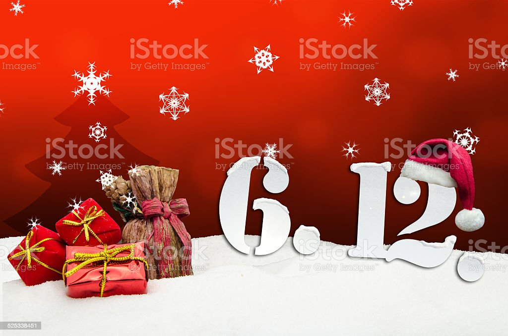 St. Nicholas Day December 06 - red stock photo