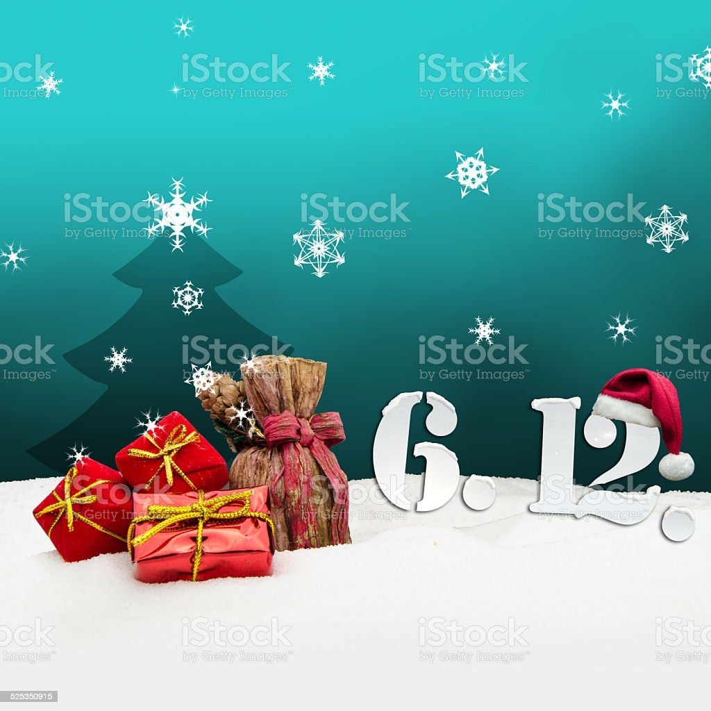 St. Nicholas Day December 06 - turquoise stock photo