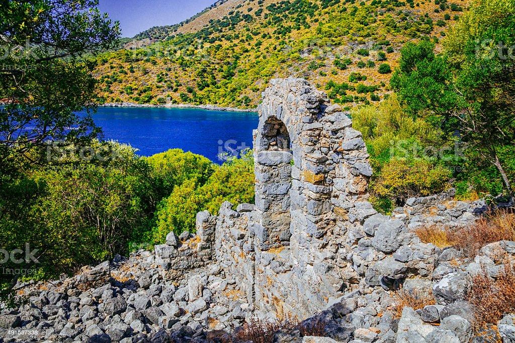 St. Nicholas - Gemiler Island Fethiye, Turkey stock photo