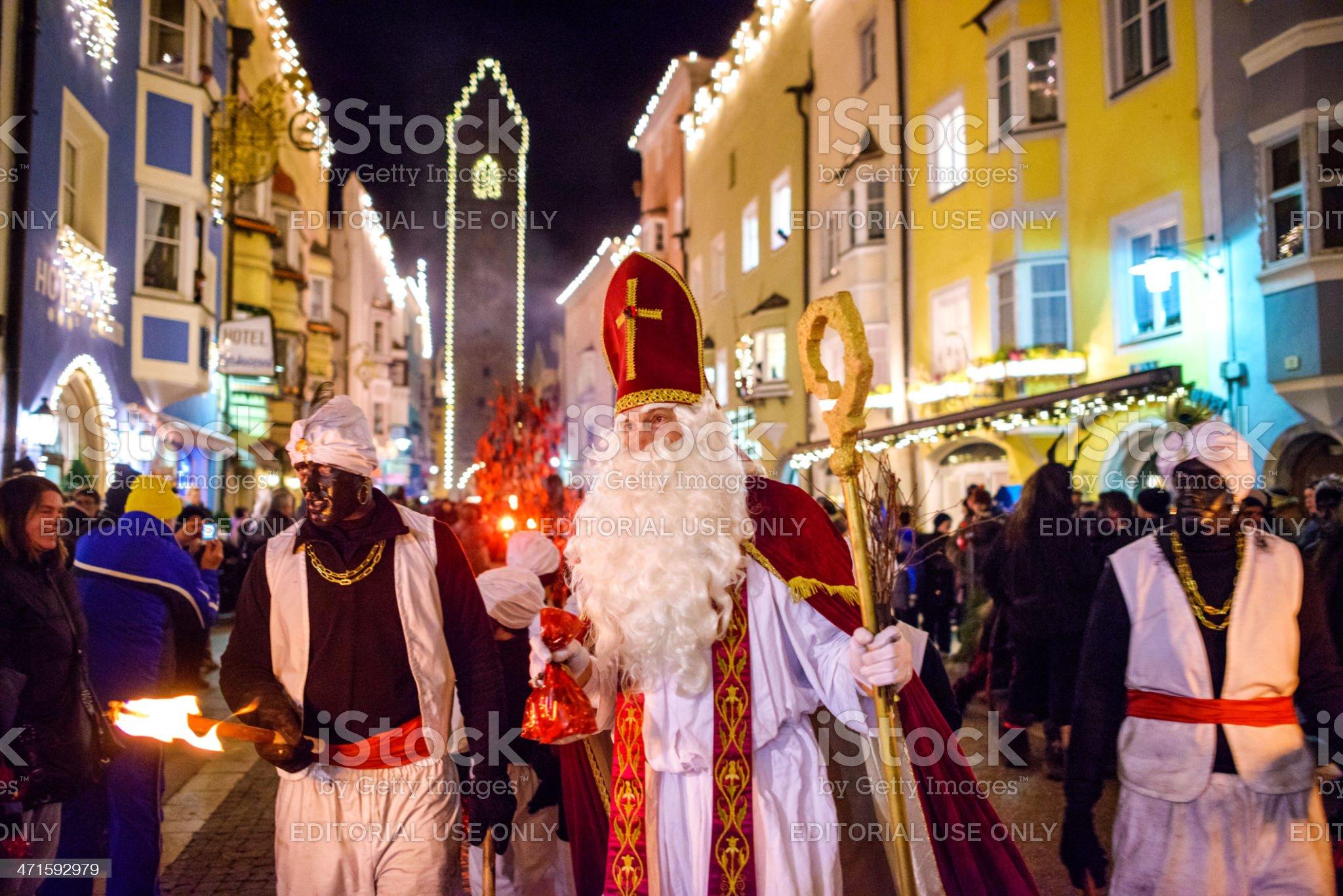 St. Nicholas in Sterzing (Vipiteno) royalty-free stock photo