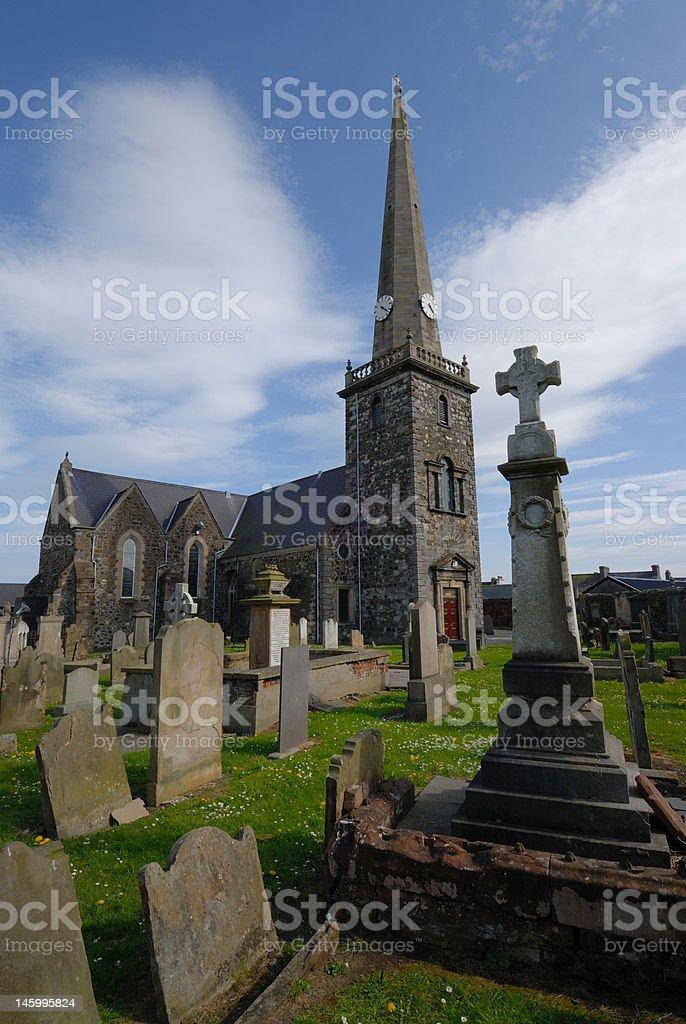 St Nicholas Parish Church, Carrickfergus stock photo