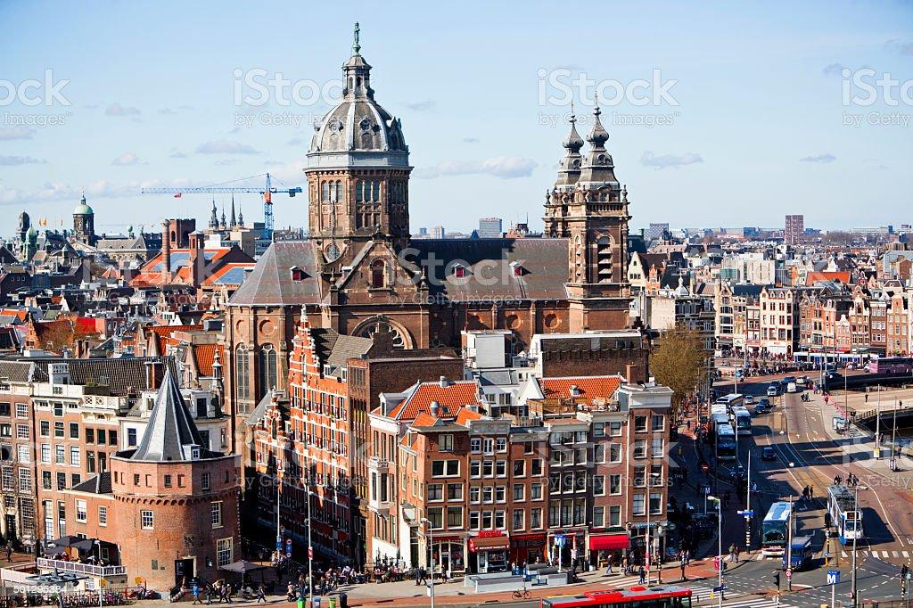St Nicolas Basilica Amsterdam royalty-free stock photo