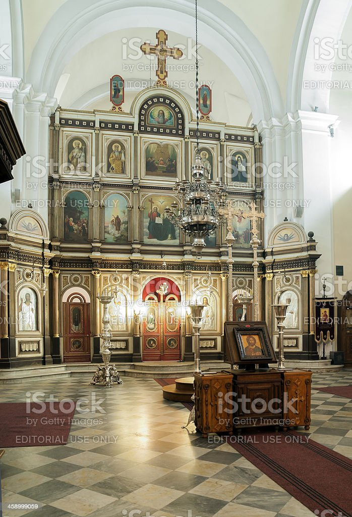 St. Nicolas Church in Kotor, Montenegro stock photo