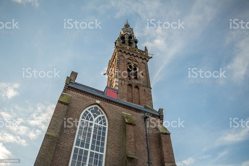 St. Nicolas church (Edam, Netherlands) stock photo