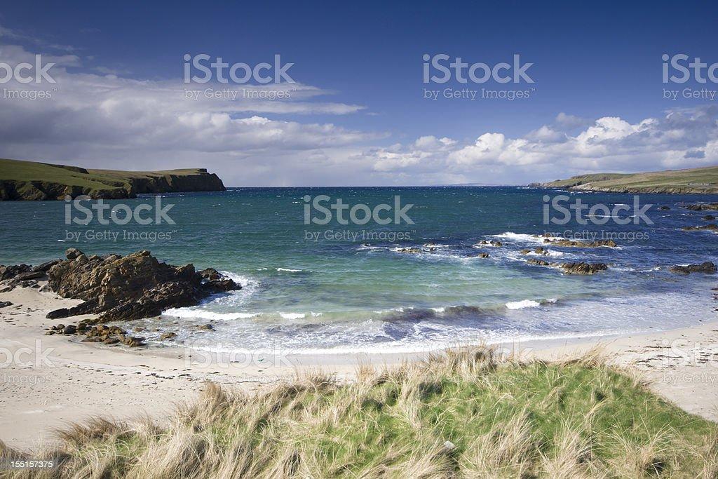 St Ninian's Island on Shetland royalty-free stock photo