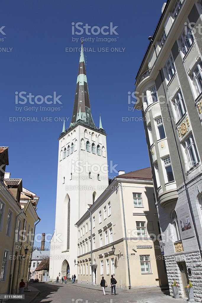 St. Olaf's Church, Tallinn, Estonia stock photo