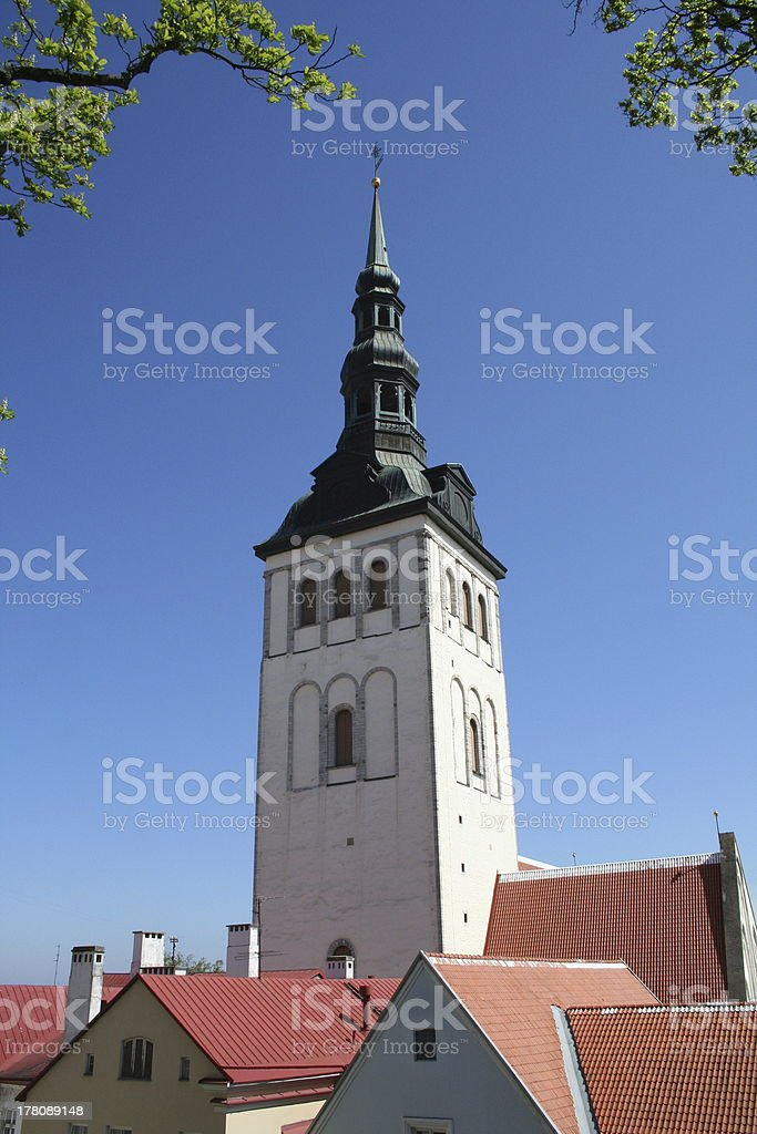 'St Olaf's Church, Tallinn' stock photo