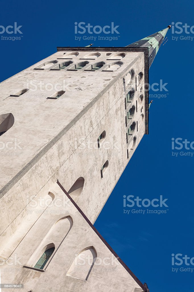 St Olaf's church, Tallinn stock photo