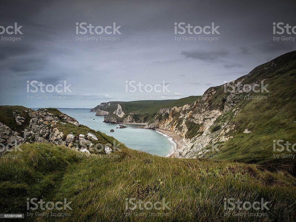 St Oswald's Bay - Dorset Coast stock photo