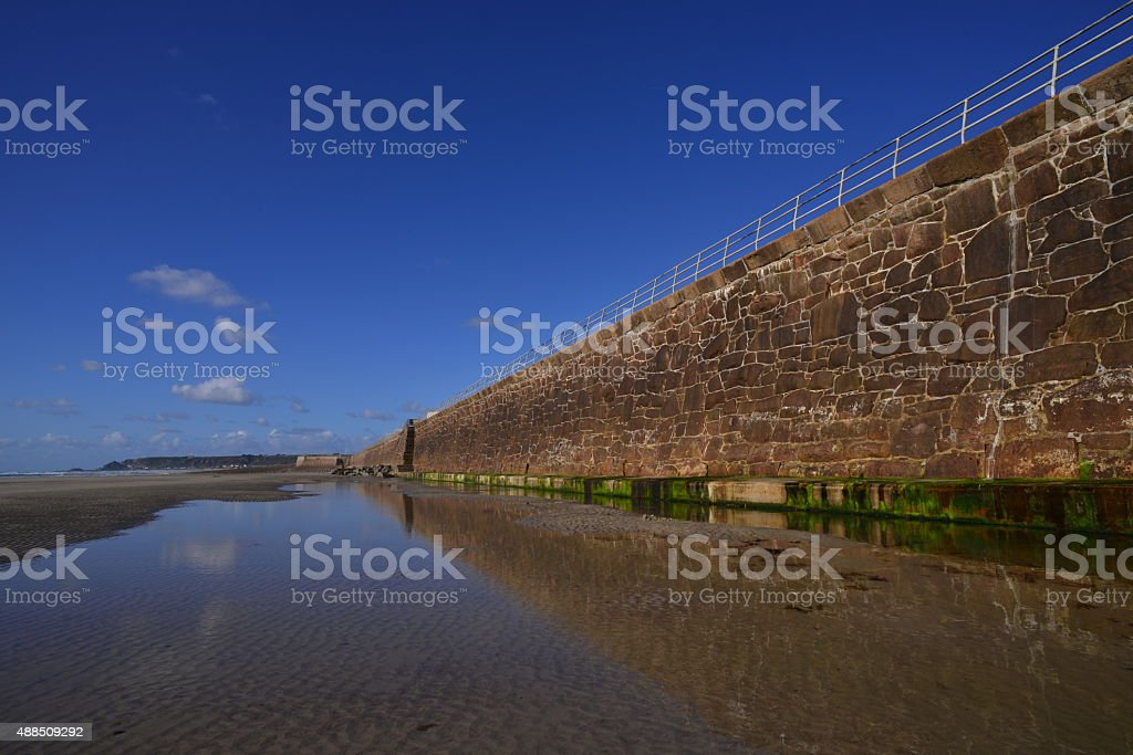 St Ouen's Bay, Jersey, U.K. stock photo
