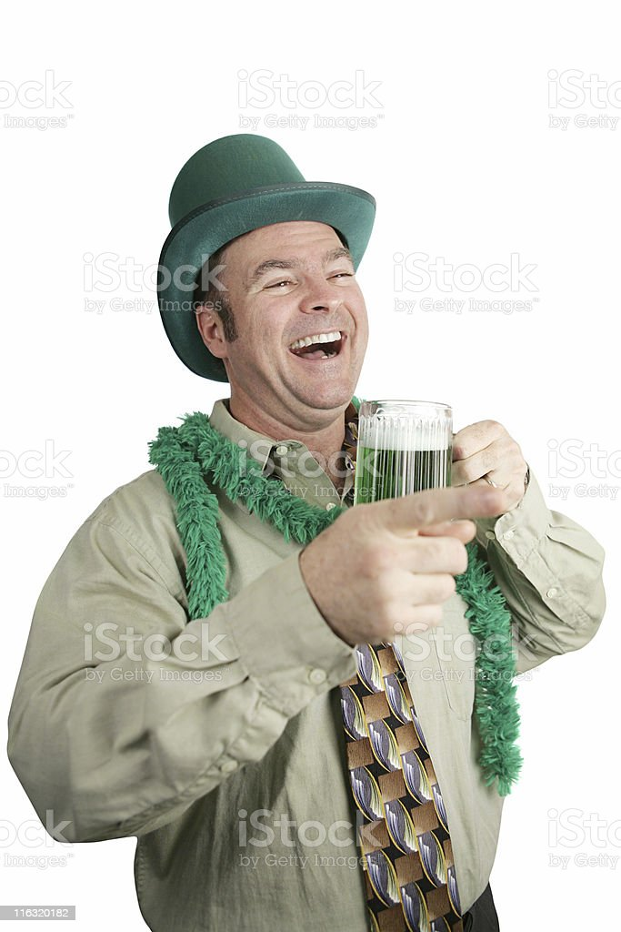 St Paddy's Day Drunk Laughter royalty-free stock photo