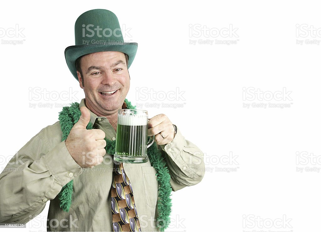 St Paddy's Day Drunk with Copyspace royalty-free stock photo