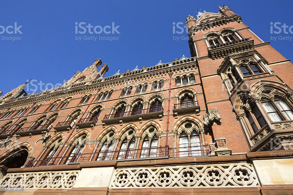 St Pancras in London, England royalty-free stock photo