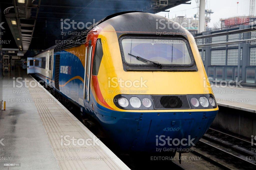 HST St Pancras Railway Station East Midlandlands Trains royalty-free stock photo