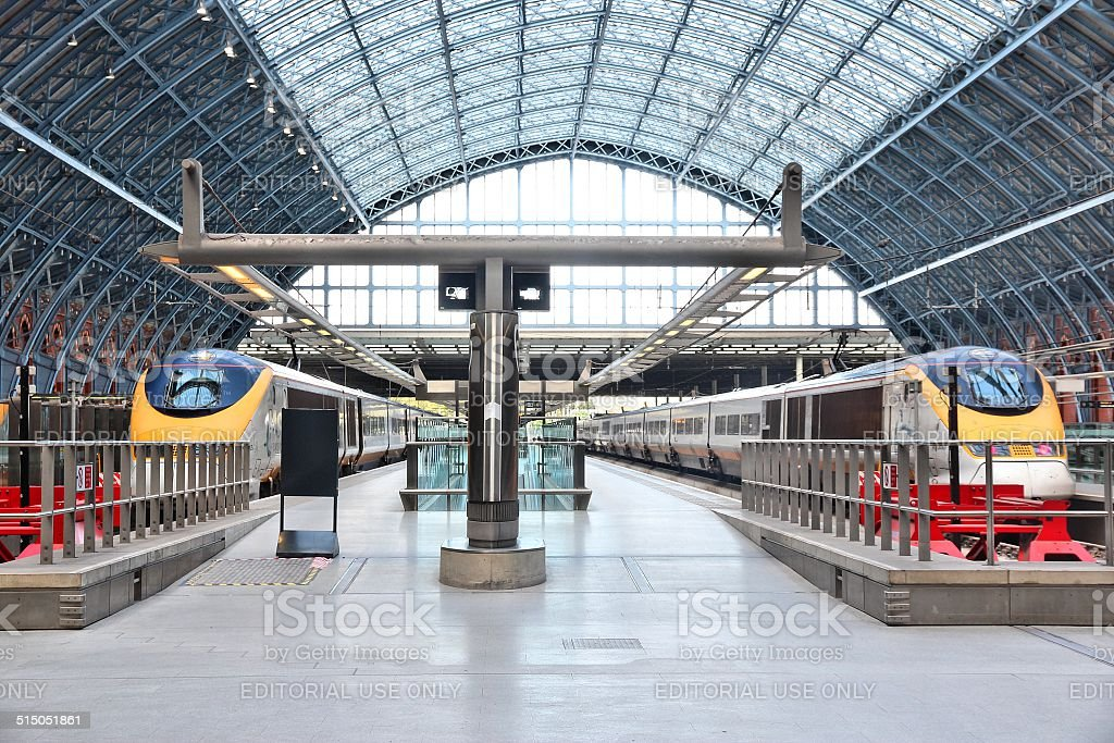 St Pancras railway station stock photo