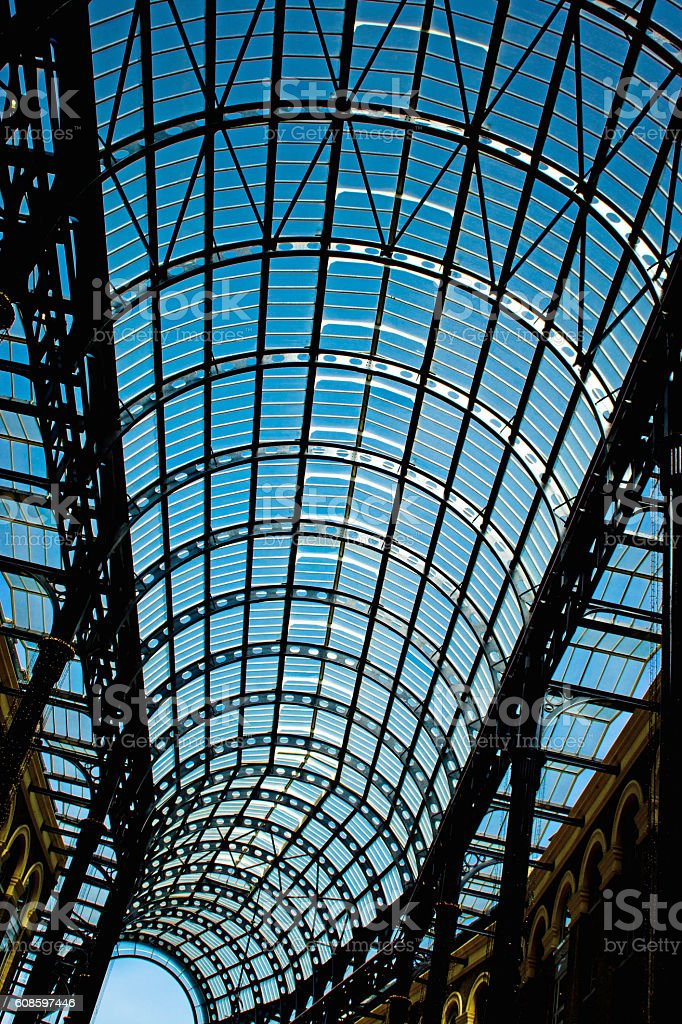 St Pancras station ceiling stock photo