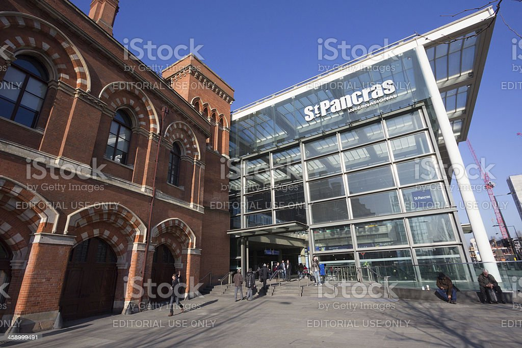 St Pancras Station in London, England royalty-free stock photo