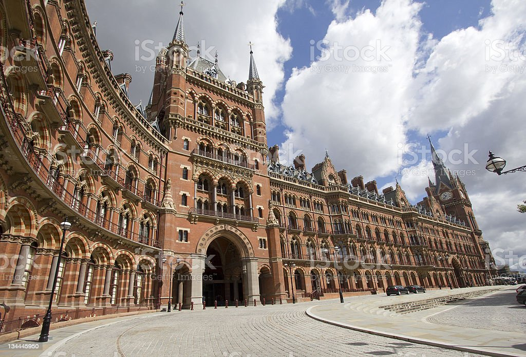 St. Pancras Station in London stock photo