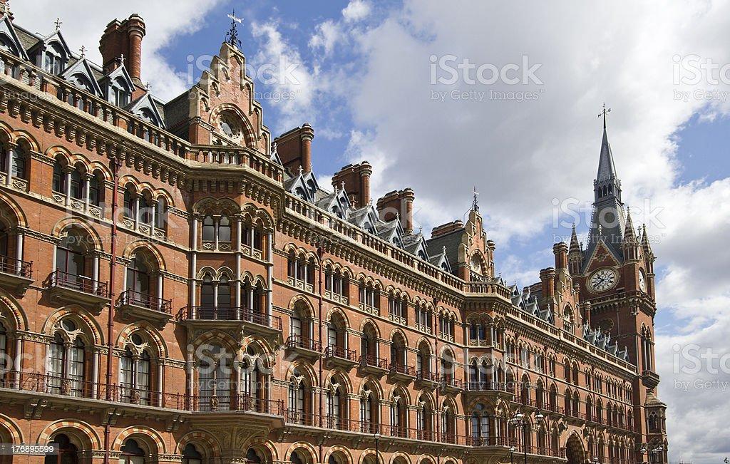 St. Pancras Station London stock photo