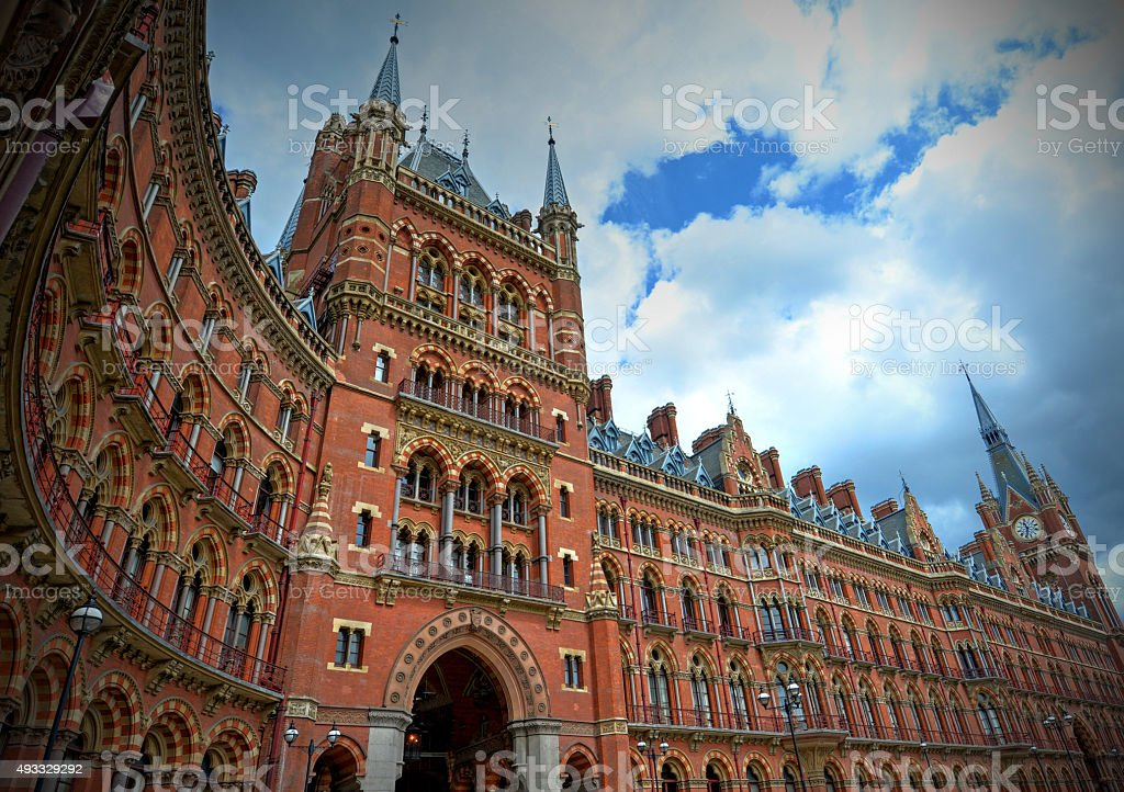 St. Pancras station stock photo