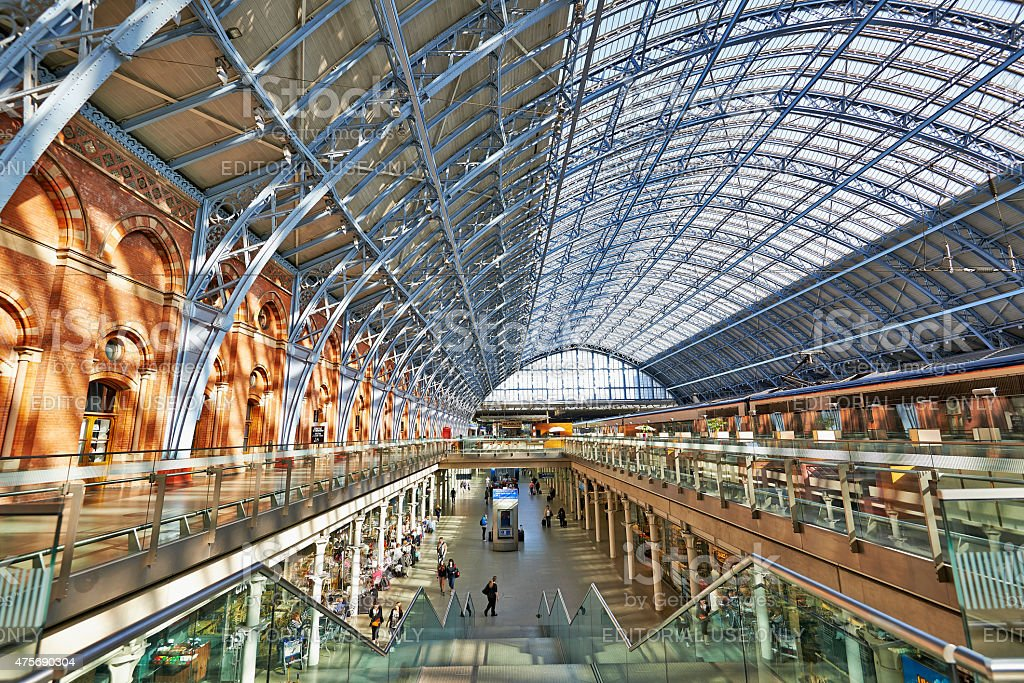 St Pancras Station terminal stock photo