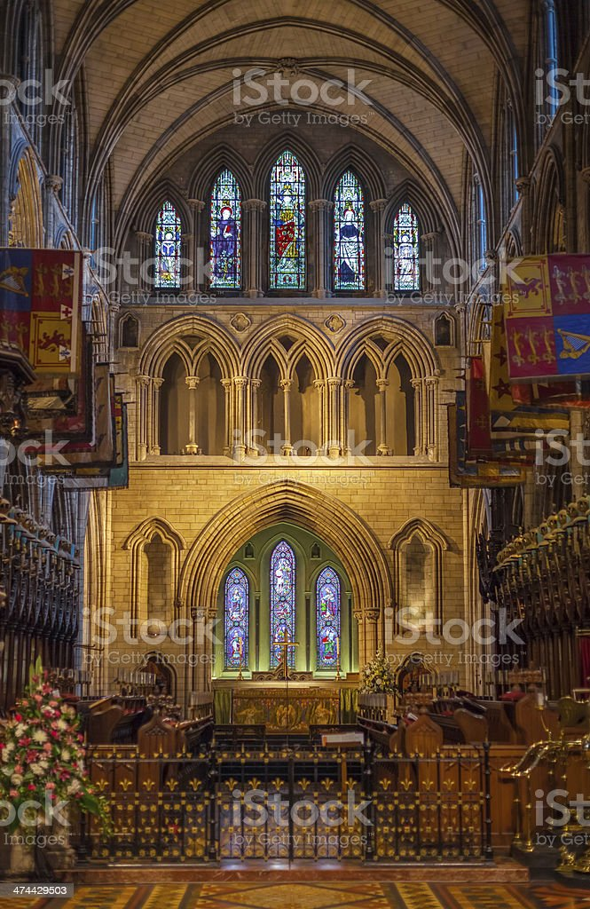 St. Patrick Cathedral in Dublin, Ireland stock photo