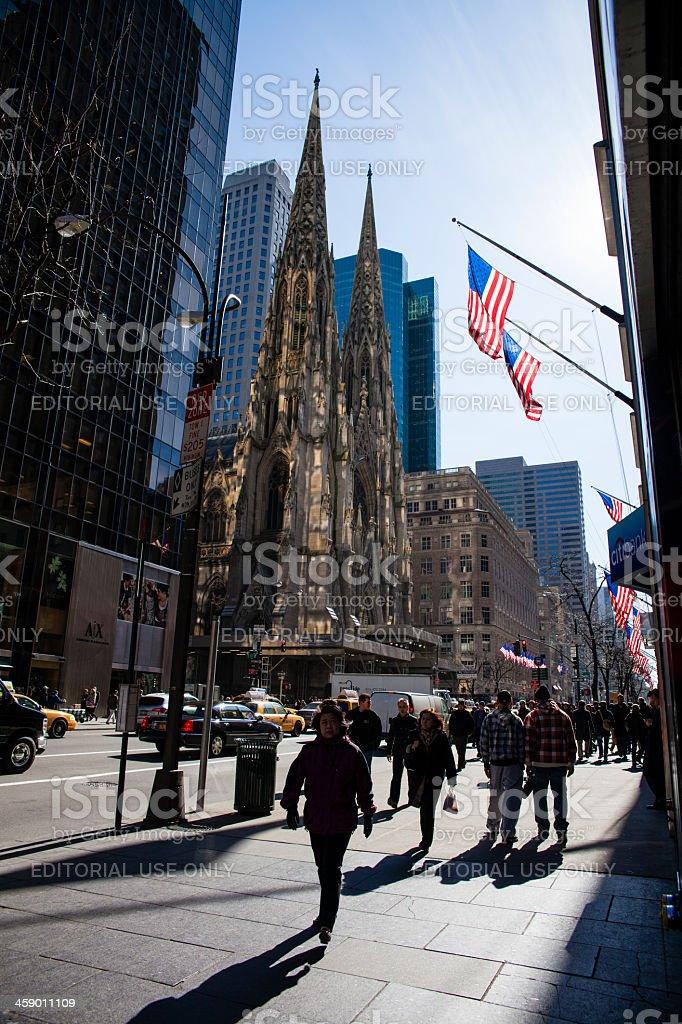 St. Patrick churche, Manhattan stock photo