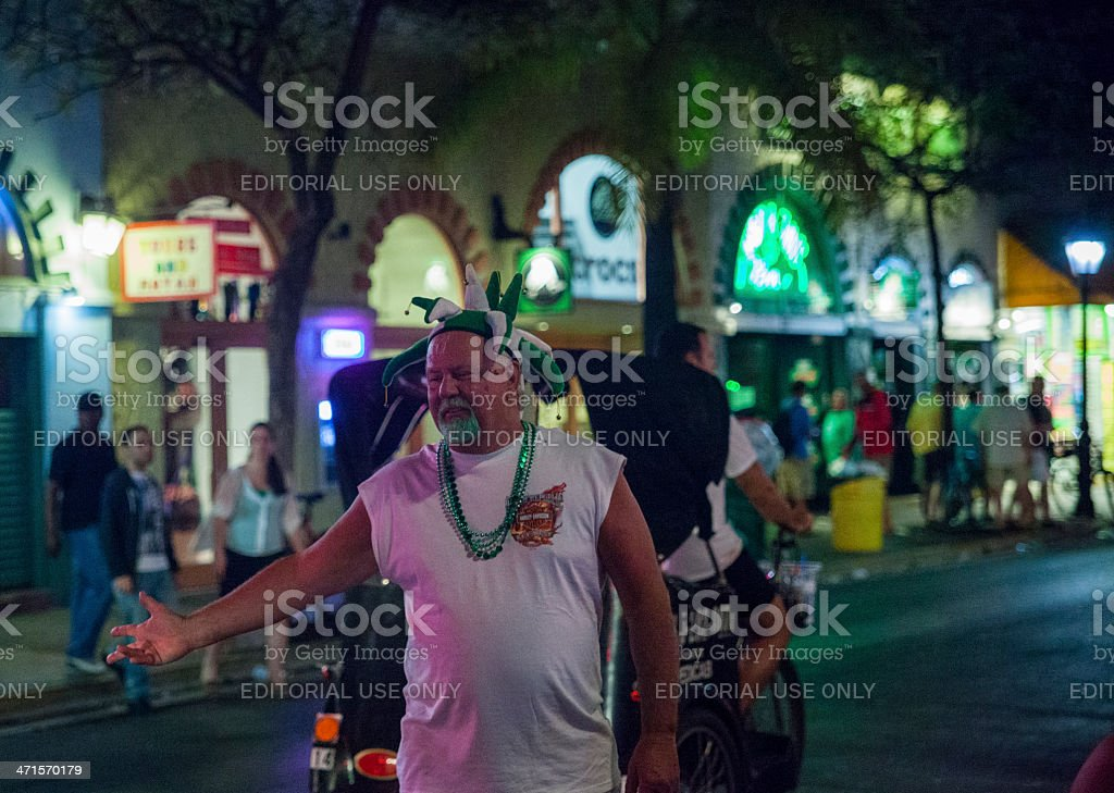 St. Patrick Day in Key West royalty-free stock photo